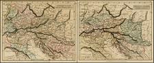 Germany, Hungary, Romania, Czech Republic & Slovakia, Balkans, Greece and Turkey Map By John Arrowsmith