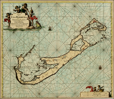 Atlantic Ocean and Caribbean Map By Johannes Van Keulen