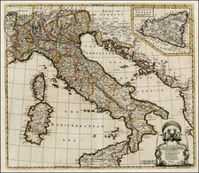 Italy Map By John Senex