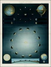 World, World, Celestial Maps and Curiosities Map By Louis Vivien de Saint-Martin