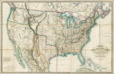 United States, Texas, Plains, Southwest, Rocky Mountains and California Map By Richard Holmes Laurie