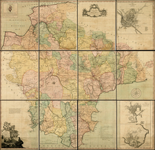 British Counties Map By Benjamin Donn