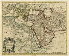 Mediterranean, Central Asia & Caucasus, Middle East and North Africa Map By John Senex