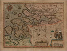 Netherlands Map By Pieter van den Keere