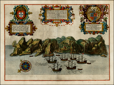 Atlantic Ocean, West Africa and African Islands, including Madagascar Map By Jan Huygen Van Linschoten