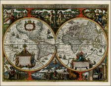 World and World Map By Nicholas Van Geelkercken