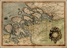 Netherlands Map By  Gerard Mercator