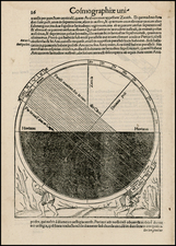 Celestial Maps and Curiosities Map By Sebastian Munster