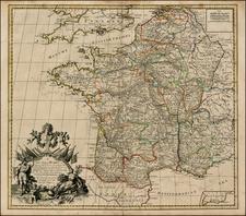 France Map By John Senex