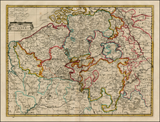 Netherlands and Luxembourg Map By John Senex