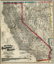 Nevada and California Map By Warren Holt / Charles Drayton Gibbes