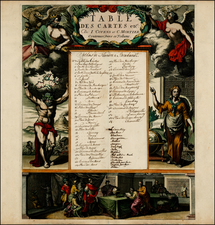 Curiosities and Title Pages Map By Johannes Covens  &  Cornelis Mortier