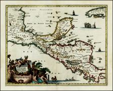 Mexico, Caribbean and Central America Map By John Ogilby
