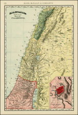 Holy Land Map By William Rand  &  Andrew McNally