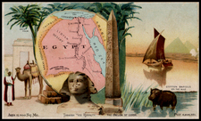 Egypt Map By Arbuckle Brothers Coffee Co.
