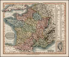 France Map By John Cary