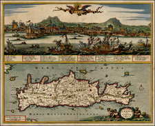 Greece and Balearic Islands Map By Nicolaes Visscher I
