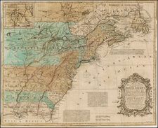 United States, Mid-Atlantic, Southeast and North America Map By John Huske