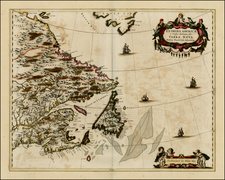New England and Canada Map By Johannes Blaeu