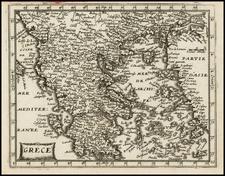 Greece Map By Gerard Jollain