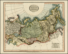 Russia, Central Asia & Caucasus and Russia in Asia Map By John Cary