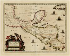 Mexico, Caribbean and Central America Map By Johannes Blaeu