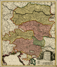 Austria, Balkans and Italy Map By Gerard Valk