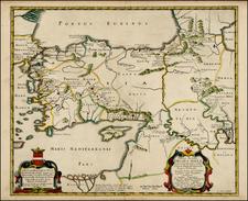 Greece, Turkey, Mediterranean, Balearic Islands and Turkey & Asia Minor Map By Pierre Du Val
