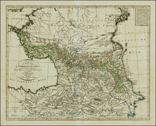 Russia, Ukraine, Central Asia & Caucasus and Turkey & Asia Minor Map By Iohann Matthias Christoph Reinecke