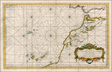 Atlantic Ocean, North Africa and West Africa Map By Depot de la Marine