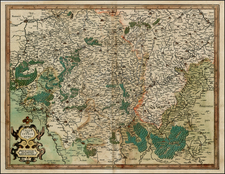 Luxembourg and France Map By  Gerard Mercator