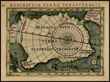 Southern Hemisphere and Polar Maps Map By Petrus Bertius