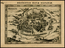 Mexico Map By Petrus Bertius