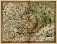 Switzerland Map By  Gerard Mercator