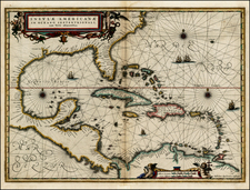 South, Southeast, Caribbean and Central America Map By Jan Jansson