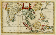 India, Southeast Asia and Philippines Map By Thomas Kitchin