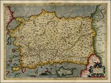 Turkey, Mediterranean, Turkey & Asia Minor, Balearic Islands and Greece Map By Gerhard Mercator