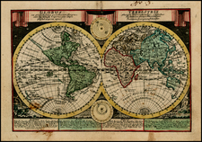 World and World Map By Johann George Schreiber