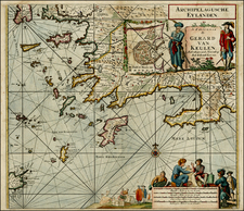 Greece, Turkey and Balearic Islands Map By Gerard Van Keulen