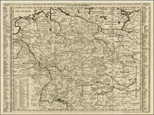 Netherlands, Switzerland, Germany, Austria, Hungary and Czech Republic & Slovakia Map By Henri Chatelain