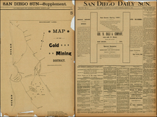 Mexico, Baja California and California Map By California Printing Co.