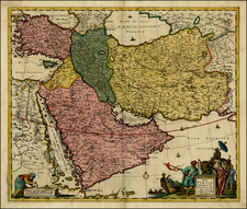 Balearic Islands, Central Asia & Caucasus, Middle East, Turkey & Asia Minor and Egypt Map By Reiner & Joshua Ottens