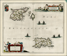British Isles and British Counties Map By Johannes Blaeu