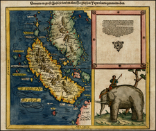 India and Southeast Asia Map By Sebastian Münster
