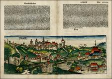Czech Republic & Slovakia Map By Hartmann Schedel