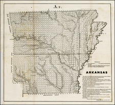Arkansas Map By U.S. General Land Office