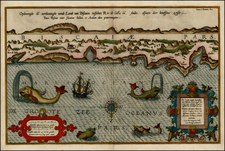 Spain and Curiosities Map By Lucas Janszoon Waghenaer