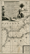 Spain, Balearic Islands, North Africa and African Islands, including Madagascar Map By Johannes Loots