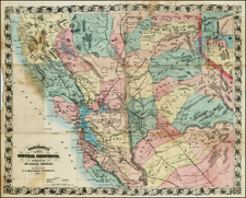 California Map By A.L. Bancroft & Co. / William H. Knight