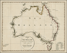Australia Map By Friedrich Ludwig Lindner